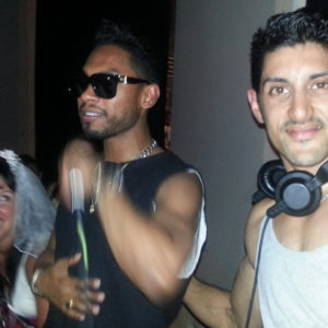 Miguel-R&B-Star-Jammin-with-DJ-SR-Shomik-Raha-at-London-nightclub-the-Anthologist-bar