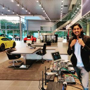 Porsche-Garage-East-London—DJ-Set